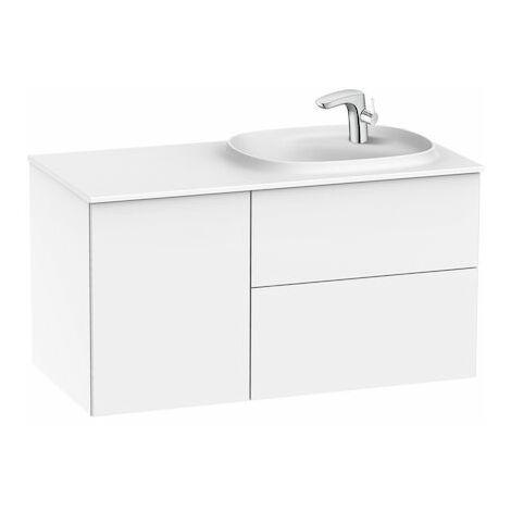 Conjunto Beyond de mueble de 2 cajones y lavabo derecha Surfex.
