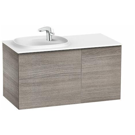 Conjunto Beyond de mueble de 2 cajones y lavabo izquierda Surfex.