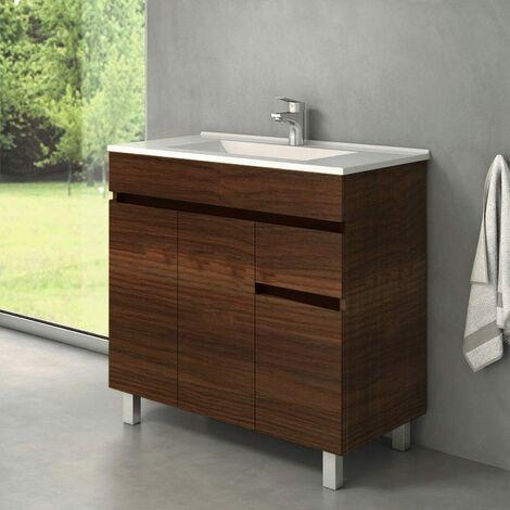Conjunto CLIF, Mueble de lavabo 80cm y espejo