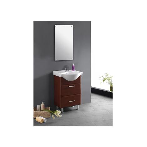 Conjunto completo mueble baño Caoba