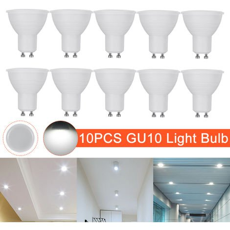 Conjunto de 10 bombillas LED GU10 5W Color de luz blanco 6000K 500lm