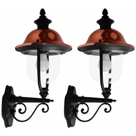 Conjunto de 2 apliques de estilo country faroles exteriores focos faroles en sistema incl. Bombillas LED