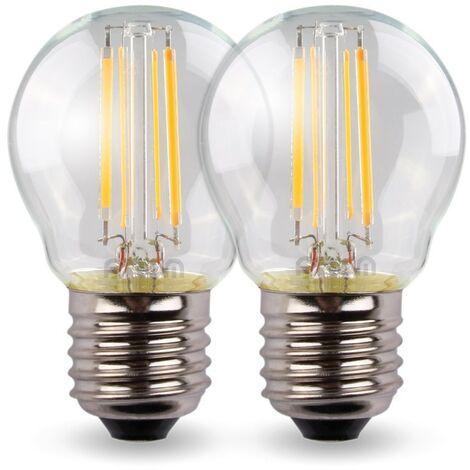 Conjunto de 2 bombillas LED 4W Eq 40W Standad E27 G45   Temperatura de color: Blanco cálido 2700K