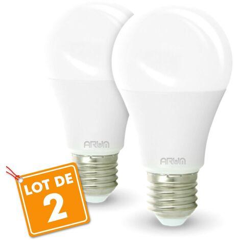 Conjunto de 2 bombillas LED E27 9W Eq 60W