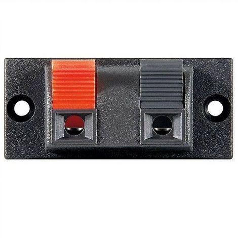 Conjunto de 2 bornes para altavoz rectangular Negro