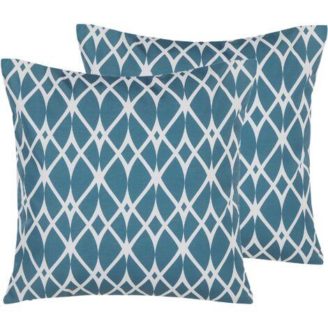 Conjunto de 2 cojines de jardín azul 45x45 cm ANAGNI