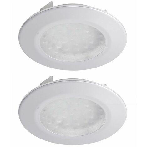 Conjunto de 2 lámparas empotrables LED Interior sala trabajo Iluminan titanio Brilliant G00762/11