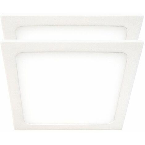 Conjunto de 2 LED ALU Panel montado en superficie Focos de techo Lámparas Luz diurna Luces de sala de trabajo ULTRA SLIM