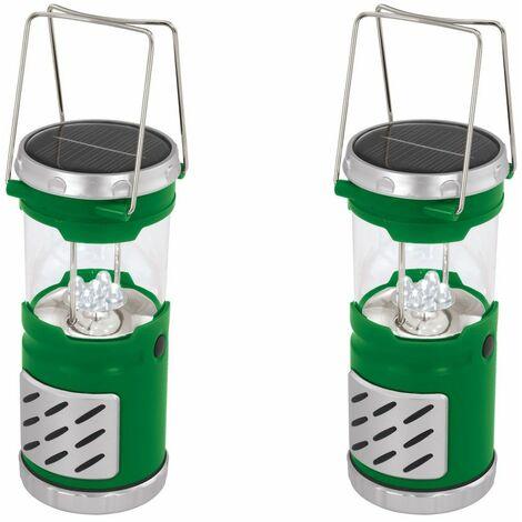 Conjunto de 2 LED de la lámpara de camping lámpara solar del jardín portátil de iluminación al aire libre de la hoja 1