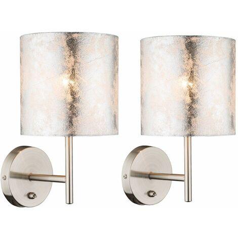 Conjunto de 2 Muro de iluminación de lámparas de lectura del ambiente Beistell lámparas interruptor radiador textiles