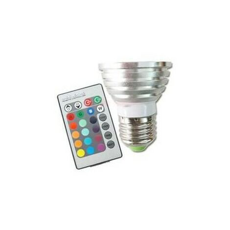 Conjunto de 3 Bombillas de LED RGB de color con control remoto