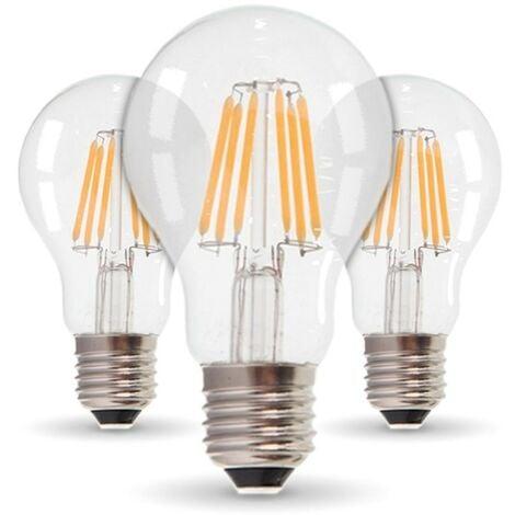 Conjunto de 3 bombillas LED E27 11W 1521 Lm Eq 100W | Temperatura de color: Blanco cálido 2700K