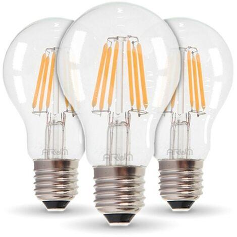 Conjunto de 3 bombillas LED E27 4W Filamento Equiv 40W | Temperatura de color: Blanco cálido 2700K