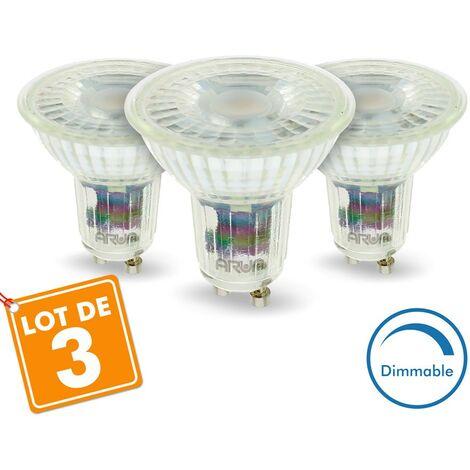 Conjunto de 3 bombillas LED GU10 5W Regulables 420 Lm Eq 50W