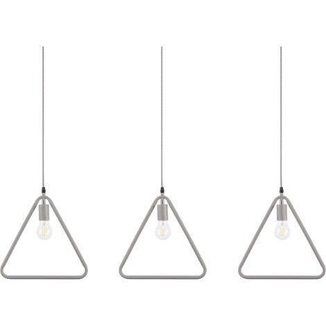 Conjunto de 3 lámparas de techo gris JURUENA