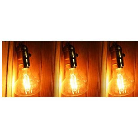 Conjunto de 3 LED E27 4w vintage estilo Edison R80