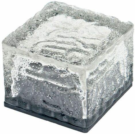 Conjunto de 4 LED RGB baja las luces solares lámparas de cristal de la decoración exterior cubo de piedra DAÑA 504082