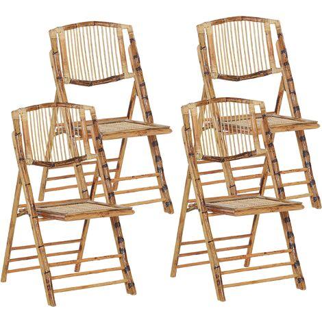 Conjunto de 4 sillas de bambú TRENTOR