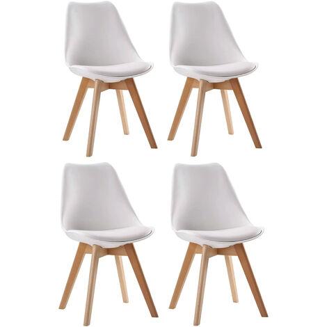 Conjunto de 4 sillas escandinavas SENJA