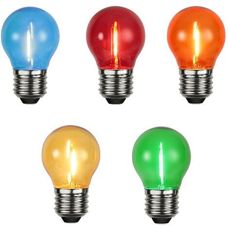 Conjunto de 5 bombillas LED E27 color de filamento LED Guinguette