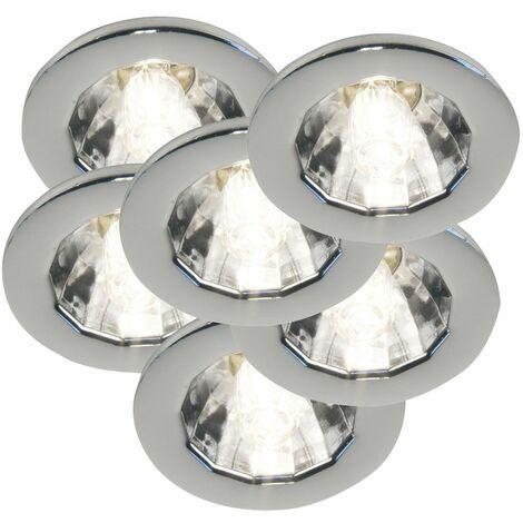 Conjunto de 6 focos empotrados plafón focos de sala de trabajo lámparas de oficina DIMMABLE Nordlux 1546032