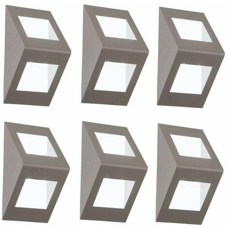 Conjunto de 6 pared de iluminación exterior LED iluminación del hogar de la corte hasta abajo se enciende bombillas centro de atención