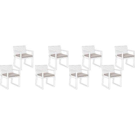 Conjunto de 8 cojines para la silla SASSARI gris pardo
