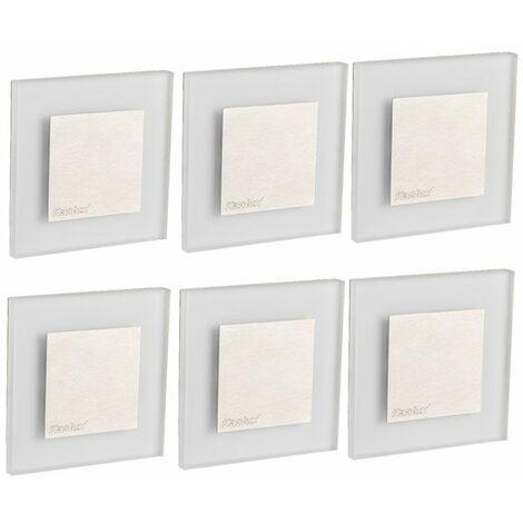 Conjunto de 8 puntos de pared LED Iluminación de acento Sala de estar Lámparas de techo Pasillo Escalera Luces de escalera