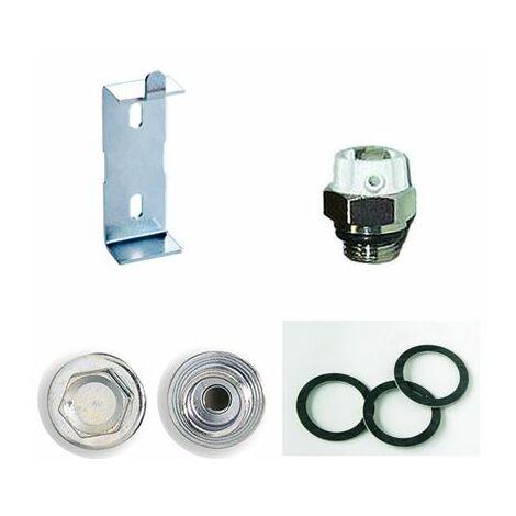 Conjunto de accesorios para radiador de aluminio Ferroli