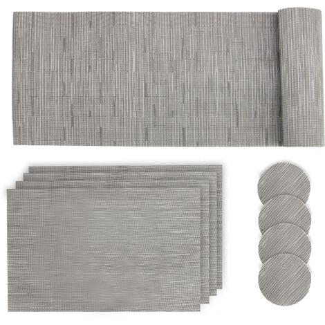 Conjunto de alfombrillas de mesa grises ? Pukkr