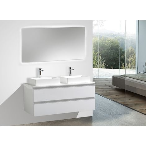Conjunto de baño DELIA 1200 blanco - espejo opcional