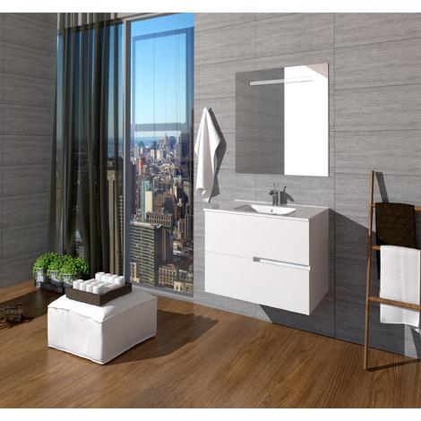 Conjunto de baño Mueble 70x56x46 - Lavabo - Espejo 70 x 80 ...