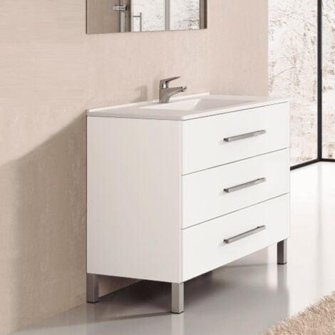 Conjunto de Baño mueble + encimera INDUS Blanco 60cm