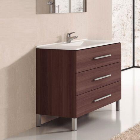 Conjunto de Baño mueble + encimera INDUS Fresno Tea
