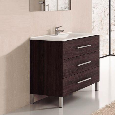Conjunto de Baño mueble + encimera INDUS Roble Sinatra