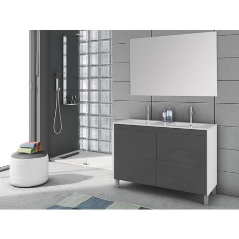 Conjunto de baño Push Blanco/Gris