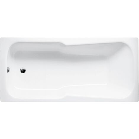 Conjunto de cama bañera, 180 x 80 x 38 cm, color: Blanco con BetteGlasur Plus - 3860-000Plus