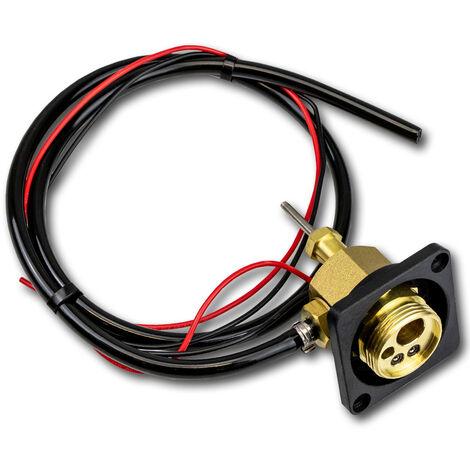 Conjunto de cambio para la conexión del dispositivo STAHLWERK MIG MAG conexión Euro central, hexágono, para soldadoras MIG MAG con protección de gas, incl. cubierta frontal