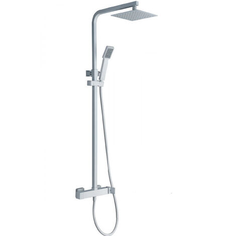 Conjunto de ducha cuadrado blanco mate Serie Fiyi - IMEX