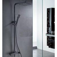 Conjunto de ducha cuadrado negro mate Serie Fiyi - IMEX