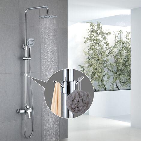 Conjunto de ducha de columna de latón duradero equipada con un gancho de gancho extraíble para colocar la flor de ducha
