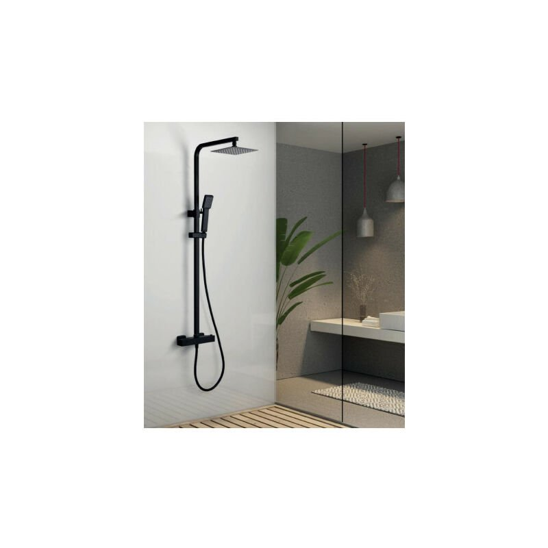 Columna de ducha de acero inoxidable termostática serie vigo