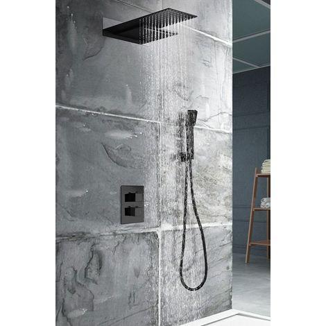 Conjunto de ducha negro mate serie Rodas