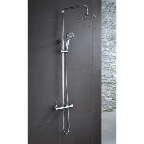 Conjunto de ducha TERMOSTÁTICA modelo LONDRES \ Cromado