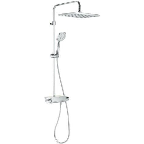 Conjunto de ducha termostático con repisa SQUARE DECK - ROCA