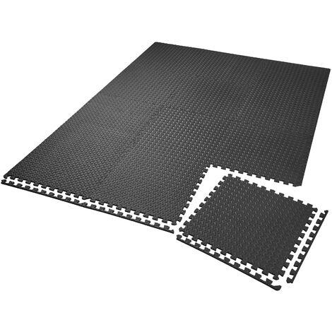 Conjunto de esteras de protección de 12 piezas - esteras antideslizantes para suelo, esteras tipo puzzle suaves contra arañazos, base de goma eva amortiguadora