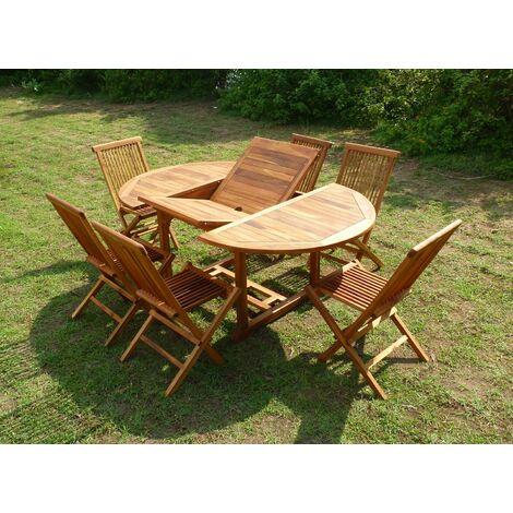 conjunto de mesa y sillas de teca