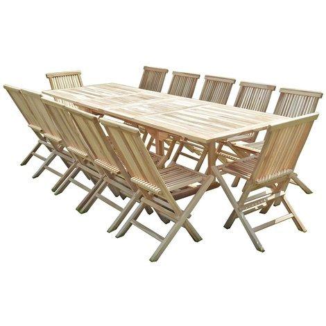 Conjunto de jardín de teca BATAN 12 sillas JALANG