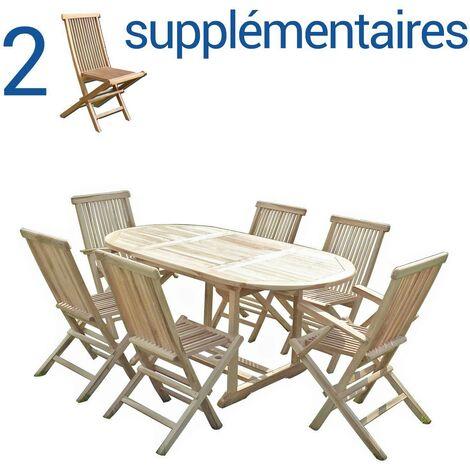 Conjunto de jardín de teca SOLO 4+2 sillas y 2 sillones - Bundle sillas