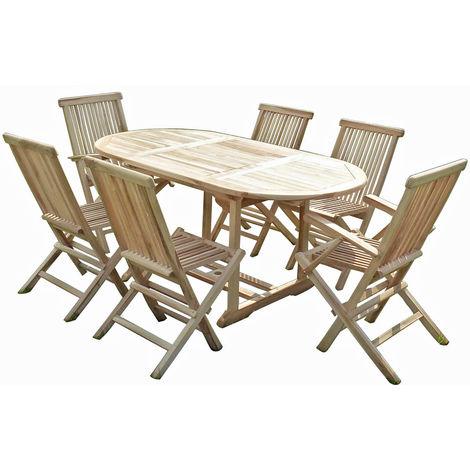 Conjunto de jardín de teca SOLO 4 sillas y 2 sillones